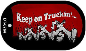 Keep on Truckin Wholesale Novelty Metal Dog Tag Necklace DT-8764