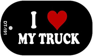I Love My Truck Wholesale Novelty Metal Dog Tag Necklace DT-191
