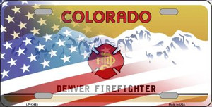 Colorado with American Flag Wholesale Novelty Metal License Plate LP-12463