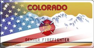Colorado with American Flag Wholesale Novelty Metal Key Chain KC-12463