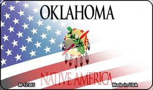 Oklahoma with American Flag Wholesale Novelty Metal Magnet M-12365