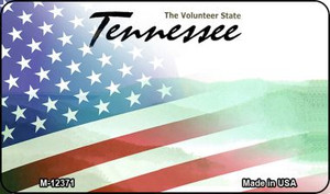 Tennessee with American Flag Wholesale Novelty Metal Magnet M-12371