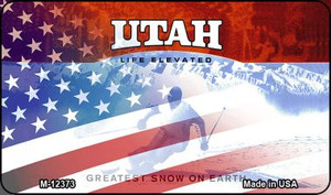 Utah with American Flag Wholesale Novelty Metal Magnet M-12373