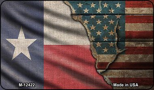 Texas/American Flag Wholesale Novelty Metal Magnet M-12422