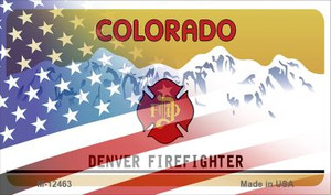 Colorado with American Flag Wholesale Novelty Metal Magnet M-12463