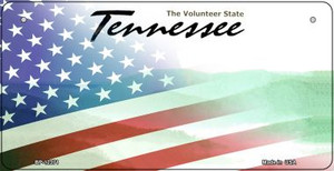 Tennessee with American Flag Wholesale Novelty Metal Bicycle Plate BP-12371