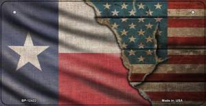 Texas/American Flag Wholesale Novelty Metal Bicycle Plate