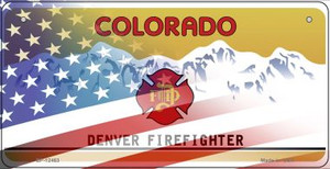 Colorado with American Flag Wholesale Novelty Metal Bicycle Plate BP-12463