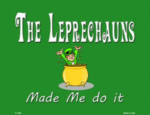 The Leprechauns Wholesale Metal Novelty Parking Sign