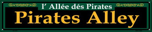 Pirates Alley Green Wholesale Novelty Metal Street Sign ST-1218