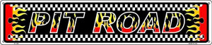 Pit Road Racing Flames Wholesale Novelty Metal Street Sign ST-1291