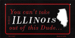 Illinois Dude Wholesale Novelty Metal Bicycle Plate BP-11267