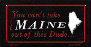 Maine Dude Wholesale Novelty Metal Bicycle Plate BP-11273