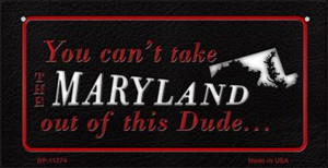 Maryland Dude Wholesale Novelty Metal Bicycle Plate BP-11274