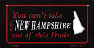 New Hampshire Dude Wholesale Novelty Metal Bicycle Plate BP-11283