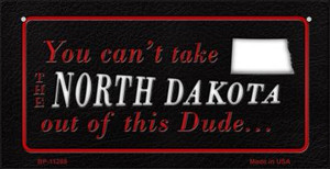 North Dakota Dude Wholesale Novelty Metal Bicycle Plate BP-11288