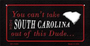 South Carolina Dude Wholesale Novelty Metal Bicycle Plate BP-11294