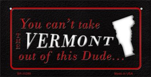 Vermont Dude Wholesale Novelty Metal Bicycle Plate BP-11299
