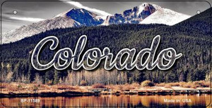 Colorado Forrest and Mountains Wholesale Novelty Metal Bicycle Plate BP-11589