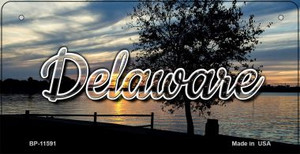Delaware River Sunset Wholesale Novelty Metal Bicycle Plate BP-11591