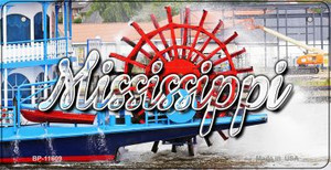 Mississippi Boat Wholesale Novelty Metal Bicycle Plate BP-11609