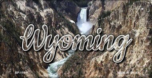 Wyoming Rocky Waterfall Wholesale Novelty Metal Bicycle Plate BP-11641