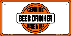 Genuine Beer Drinker Wholesale Novelty Metal Bicycle Plate BP-1128