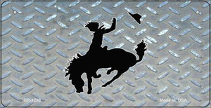 Bucking Bronco Diamond Wholesale Novelty Metal Bicycle Plate BP-1230