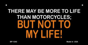 More To Life Than Motorcycles Wholesale Novelty Metal Bicycle Plate BP-1243
