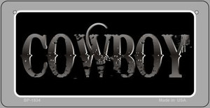 Cowboy Wholesale Novelty Metal Bicycle Plate BP-1834