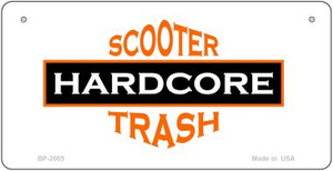 Hardcore Scooter Trash White Wholesale Novelty Metal Bicycle Plate BP-2005