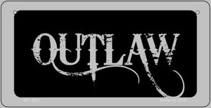 Outlaw Wholesale Novelty Metal Bicycle Plate BP-4237