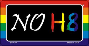 NO H8 Rainbow  Wholesale Novelty Metal Bicycle Plate BP-4714