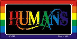 Humans Rainbow Wholesale Novelty Metal Bicycle Plate BP-4722