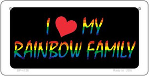 Rainbow Family  Wholesale Novelty Metal Bicycle Plate BP-4738