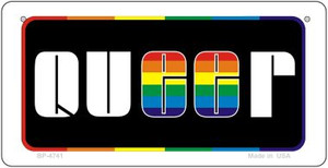 Queer Rainbow Wholesale Novelty Metal Bicycle Plate BP-4741