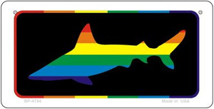 Shark Rainbow Wholesale Novelty Metal Bicycle Plate BP-4744