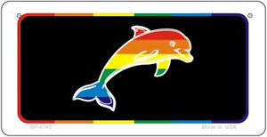 Dolphin Rainbow Wholesale Novelty Metal Bicycle Plate BP-4745