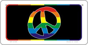 Peace Rainbow Wholesale Novelty Metal Bicycle Plate BP-4748