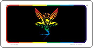 Fairy Rainbow Wholesale Novelty Metal Bicycle Plate BP-4749