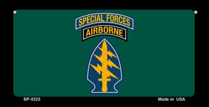 Special Forces Wholesale Novelty Metal Bicycle Plate BP-5223