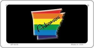 Arkansas Rainbow State Wholesale Novelty Metal Bicycle Plate BP-6318