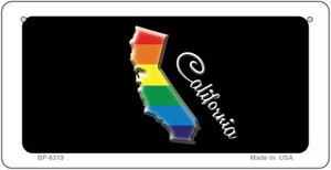 California Rainbow State Wholesale Novelty Metal Bicycle Plate BP-6319
