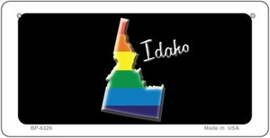 Idaho Rainbow State Wholesale Novelty Metal Bicycle Plate BP-6326