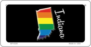 Indiana Rainbow State Wholesale Novelty Metal Bicycle Plate BP-6328