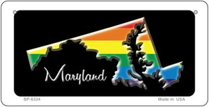 Maryland Rainbow State Wholesale Novelty Metal Bicycle Plate BP-6334