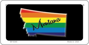 Montana Rainbow State Wholesale Novelty Metal Bicycle Plate BP-6340