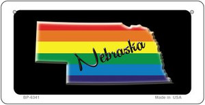 Nebraska Rainbow State Wholesale Novelty Metal Bicycle Plate BP-6341