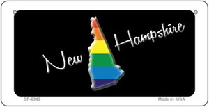 New Hampshire Rainbow State Wholesale Novelty Metal Bicycle Plate BP-6343