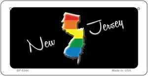 New Jersey Rainbow State Wholesale Novelty Metal Bicycle Plate BP-6344